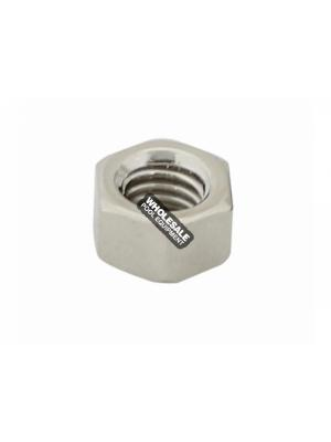 3/8-16 Brass Nickel Plated Nut
