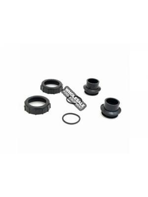 Pentair 98960311 Black Bulkhead Union Set For Clean & Clear Plus Cartridge Filter; 1-1/2 Inch x 2 Inch