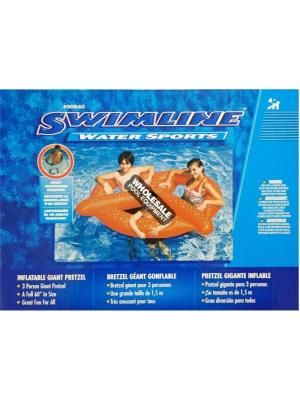 International Leisure Products, 90640, Swimline Water Sports, Swimline(R)Fun Inflatables, Giant Pretzel