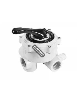 "Hayward SP0710XALL 1.5"" Vari-Flo XL Side Mount Multi-Port Control Valve, White"
