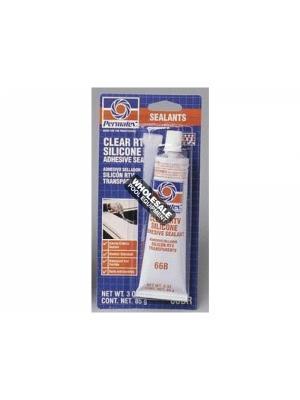 American Granby, 80050, Permatex 66 Silicone Adhesive Sealant; 3 oz Tube, Clear