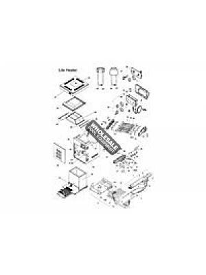 Zodiac 10697403 Heat Exchanger Baffle For Model 250 Lite2(TM) LD; LG; LJ Heaters; Set of 8
