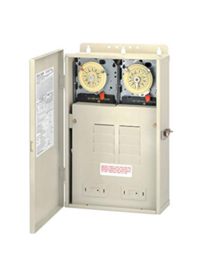 Intermatic T30404R 100A Load Center W/ 2-T104M Timers