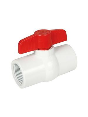 "Lasco Fittings, V08491N 491, 491 MIP (Molded in Place) Commercial Compact Valve, Size: 0.75"", Color: White, Material: PVC, Pressure Rating: 150 psi"