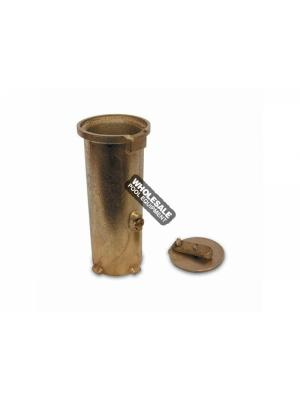 SR Smith AS-100D Anchor Socket with Cover; 6 Inch Depth; Bronze