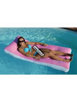 MAIN ACCESS 305909 Aqua Cloud, Bubble Aqua Cloud - Oversized Floating Mattress; Pink with White Band