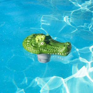 Poolmaster Clori-Gator Green Floating Chlorine Tab Dispenser