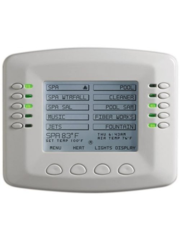 Pentair 520138 Standard Interface Indoor Control Panel For IntelliTouch(R) Systems and IntelliTouch(R) Interface Kit; 3-3/4 Inch Monochrome Backlit LCD Display, White