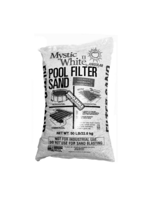 US Silica Mystic White Filter Sand; 50 Lb. Bag
