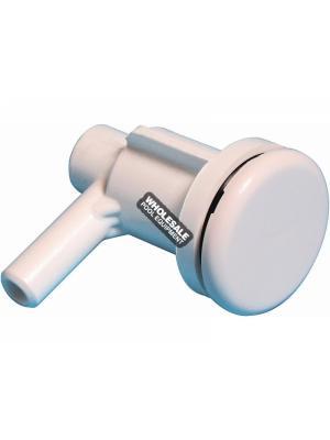 "Waterway Plastics 670-2200 Lo-Pro Air Injectors - 3/8"" SB - Ell Body White"
