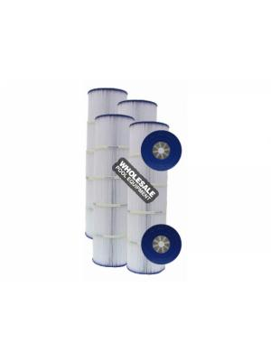 Pleatco PA106-PAK4 Replacement Filter Cartridge For Swim Clear C4025; C4030; Open with Molded Gasket; 4 oz/yd; 425 sq-ft; 25-1/2 Inch