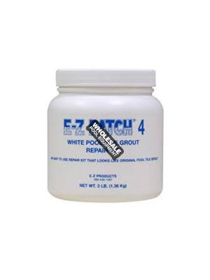 E-Z Products, EZP-137 E-Z Patch Pool Tile Grout; 3 lb Bottle, #4 White