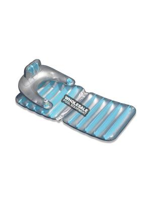 International Leisure Products, 9040, Swimline Water Sports Inflatable Loungers, Colors - Silver/Blue or Silver Green
