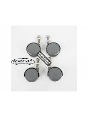 Power VAC 026-D Caster Wheel Set For PV2100 Vacuum; Gray; 4/Pack