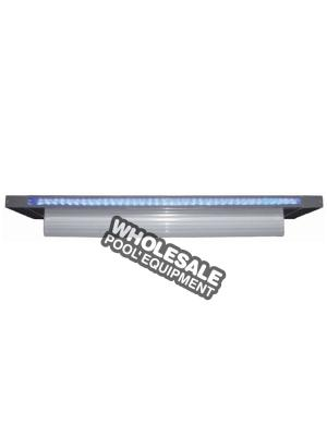 "CMP 25677-131-000 Brilliant Wonders LED Waterfall 12"" Sheer 6"" Lip, Grey"