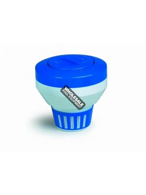 Pentair Large Floating Chemical Dispenser, Blue and White