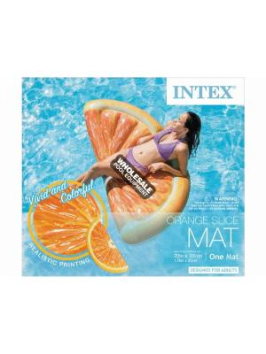 "INTEX RECREATION CORPORATION 58763EP Floats & Toys, Orange Slice Mat; Includes: Repair Patch, Product Size: 70"" x 33.5"", Age Grade : Adult"