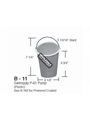 ALADDIN EQUIPMENT COMPANY PLASTIC SLANT TOP BASKET