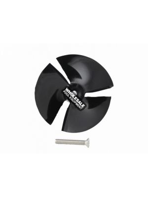 Maytronics 9995266-R1 Impeller with Screw For Dolphin Apollo Plus; C3; C4; Deluxe 4; Discovery; Dx6; Edge; Nautilus; Premier; Quest; Supreme M4/M5 Robotic Pool Cleaners; Black