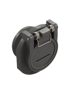 Waterway 600-2209-DKG  1-1/2in. MPT Vac Lock Fitting, DARK GRAY
