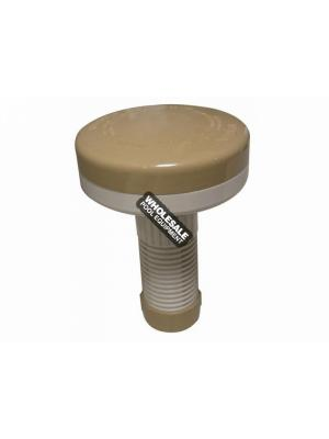 "PoolStyle K676BU/BG Floating 1"" Tab Dispenser - Beige/White"