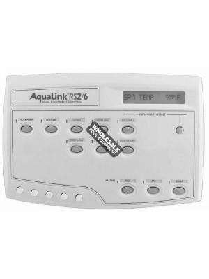 Jandy AquaLink RS PS6 Pool/Spa Combo Control Panel, White