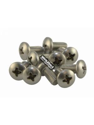 Zodiac C40 Screw For Polaris Vac-Sweep 180/280/360/380; 280 TankTrax/480 PRO; 3900 Sport Pool Cleaners; Stainless Steel; Pan; 10-32 x 3/8 Inch