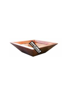 """SQUARE COPPER FIRE POT 32"""" X 12"""", 18"""" SS FIRE RING MANUAL KEY VALVE KIT AND MEDIA PLATE - BOBE Crate Fee Not included in Pricing -"""