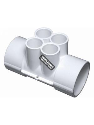 """Waterway Plastics 672-4210 2""""SX2""""SX(4) .75""""S PORTS MANIFOLD"""