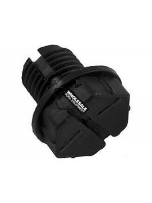 Waterway Plastics 715-1201 Quarter Slot Drain Plug For SVL56 High-Flow Pump & SMF Pump; 3/8 Inch; Black