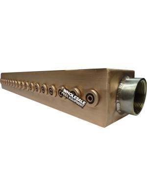 """48"""" Straight Rain Feature Available in Copper or Stainless"""