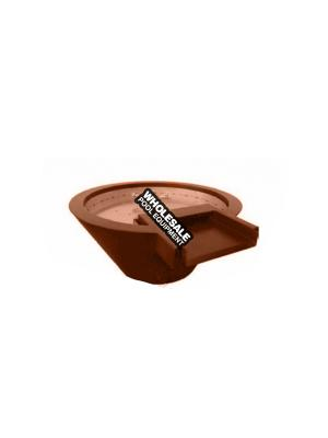 """Builder Series Round 24"""" x 7"""" copper original lip water/fire pot, manual key valve ignition and fire ring. BOBE Crate Fee Not included in Pricing"""