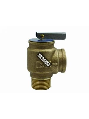 "Lasco 1041715 .75"" Pressure Relief Valve 75 PSI Bronze"