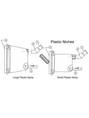 Pentair 990010 Bonding Screw For QuickNiche Plastic Concrete Niches; 10-24 x 7/16 Inch