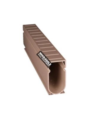 Stegmeier D2T Deck Drain; 10 ft, Tan