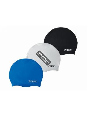 INTEX RECREATION CORPORATION 55991E SILICON SWIM CAP 3 COLORS