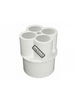 "Waterway Plastics 672-4580  1/2"" Manifolds - 1 1/2"" S x (4) 1/2"" S Ports"