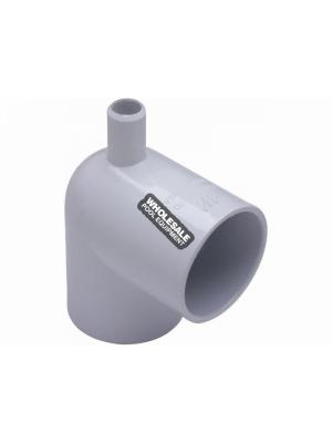 """Waterway Plastics  411-9170 2""""Sx2""""S 90^ ELL W/ .75""""SB PORT"""