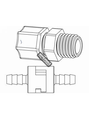 Paramount 005-402-1250-00 In-Line Check Valve; 1/4 Inch Compression