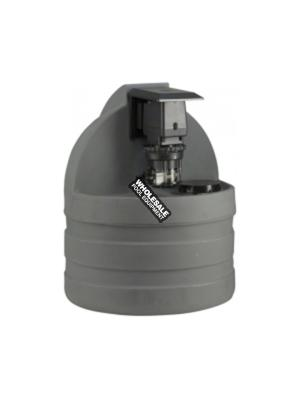 Stenner Pumps S1G45MJL3A2STAA Classic 45 45M5 Single Head Tank System with Adjustable Chemical Injection Pump; 1/4 Inch, 1.1 - 22 gpd, 15 gal, Polycarbonate, UV Gray, 120 V-60 Hz, 0-25 psi