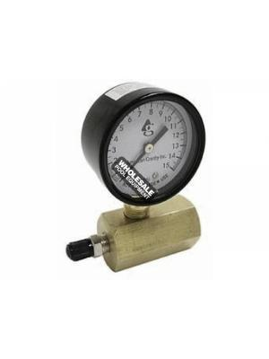"American Granby Company GTG15 Gas Test Gauge 15 psi, Size: .75"", Pressure Rate: 15,30,60,100 psi"