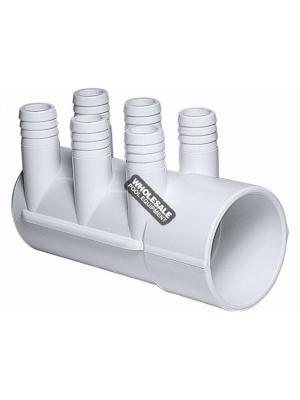 """WATERWAY PLASTICS 672-7180  2""""Sx(6) .75""""B PORTS MANIFOLD"""