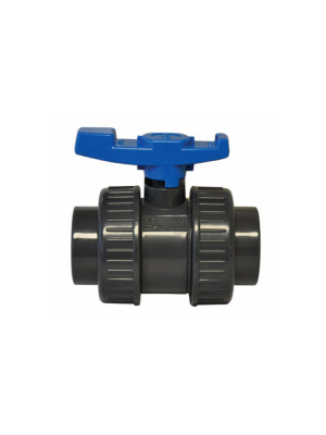 "Lasco 801 Series True Union 1.5"" Ball Valve, Gray"