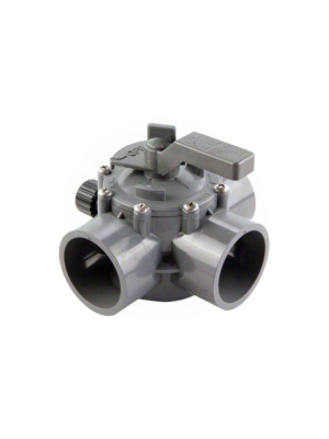 Jandy 2875 CPVC 3-Way Gray Valve 2-2.5""