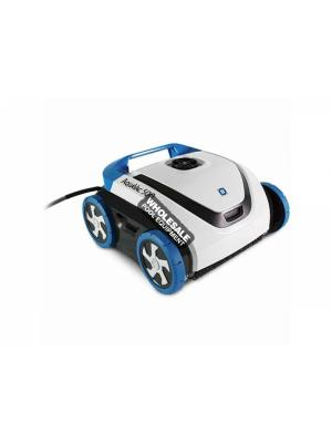 Hayward AquaVac 500 Robotic Pool Cleaner with Caddy, Gray and Blue