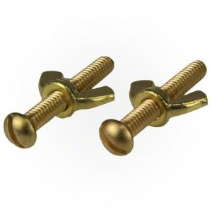 Oreq RP720 Screw and Wing Nut Set; Brass