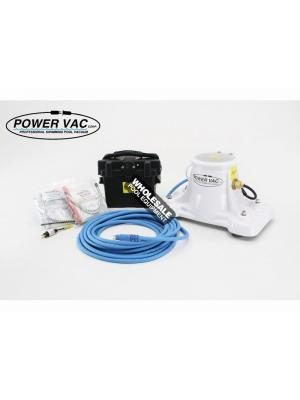 Power Vac 002-D-40 Portable PV2100 Pool Vacuum with Battery Case & (2) Filter Bags; 40 ft Floating Power Cord