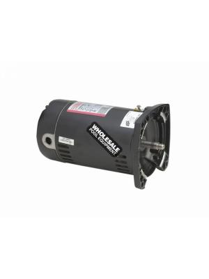 Century(R) SQ1052 Square Flange Full-Rated Two-Compartment Pool Filter Motor; 0.5 HP, 3450 RPM, 115/230 V, 48Y, Threaded Shaft
