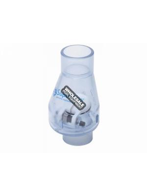 "Super-Pro SP0821-10C 1"" PVC Check Valve W/ .5# Spring, Clear"