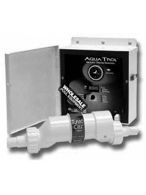 Hayward AquaTrol 18k Gallon AG Salt Chlorine Generator, Hose/Pipe Fitting W/ Twist Lock Line Cord and Outlet